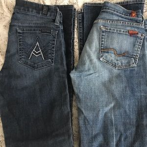 2 pairs of women's Seven jeans size 25 bootcut